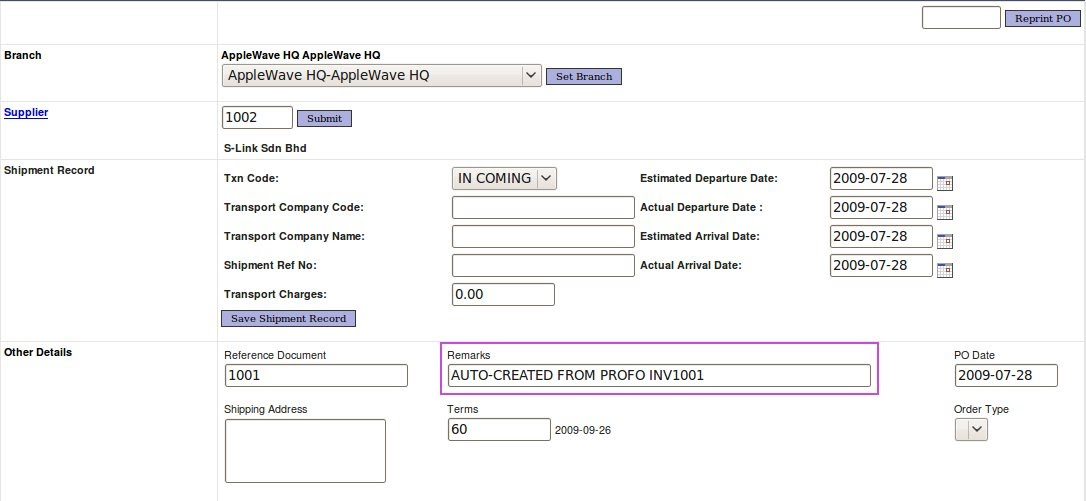 Proforma Invoice Listing Procurement Migrated  HelpWaveletBiz